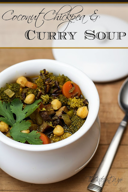 Coconut Chickpea and Curry Soup Recipe