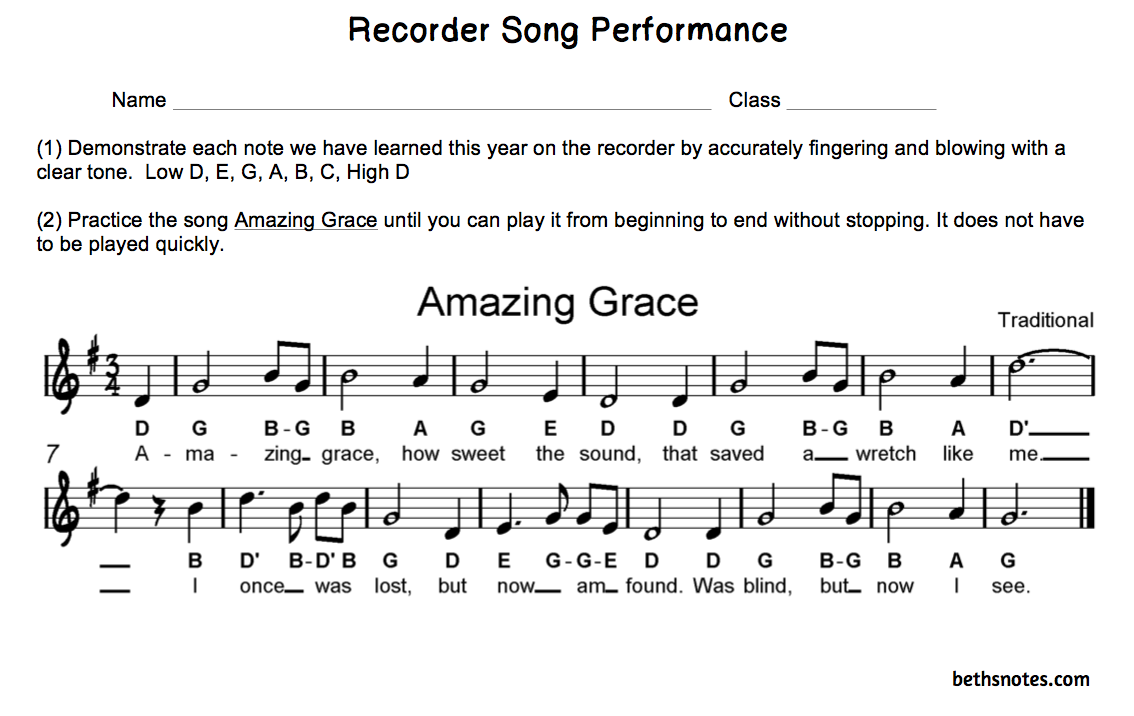 The gallery for --> Recorder Songs With Letter Notes