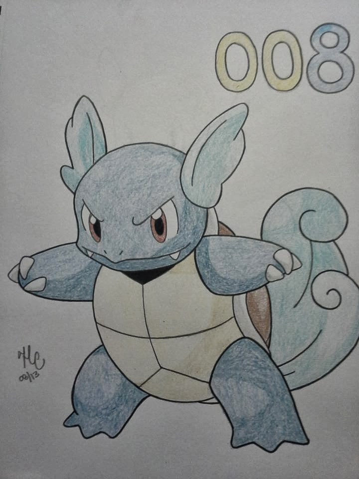 Poké-draw!: Squirtle, Wartortle and Blastoise