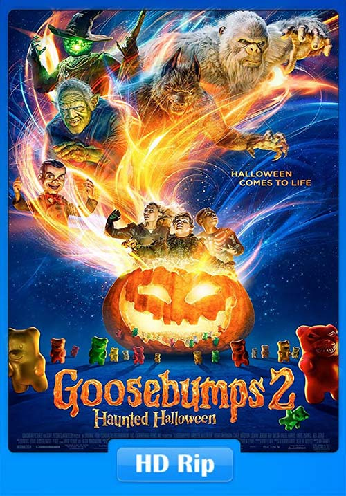 Goosebumps 2 2018 720p BDRip Hindi Tamil Telugu Eng x264 | 480p 300MB | 100MB HEVC