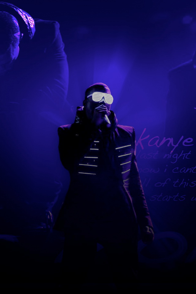 iPhone Retina Display Wallpapers: Kanye West Retina Background Pictures