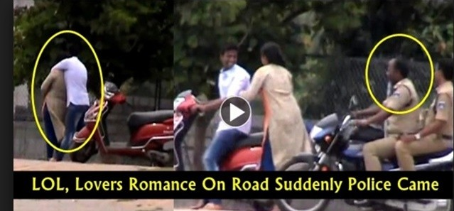 Lovers Caught on Camera in Hyderabad
