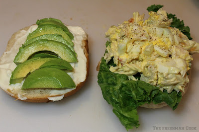 sandwich, avocado, chicken salad,