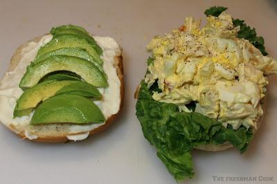 sandwich, avocado, chicken salad,