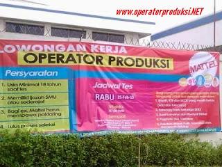 Operatorproduksi.NET - Informasi Loker cikarang operator produksi Smk SmU sederajat operator produksi pabrik.