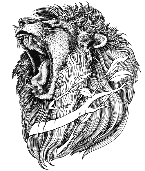 14-Lion-Muthahari-Insani-Beautifully-Detailed-Ink-Drawings-and-Doodles-www-designstack-co