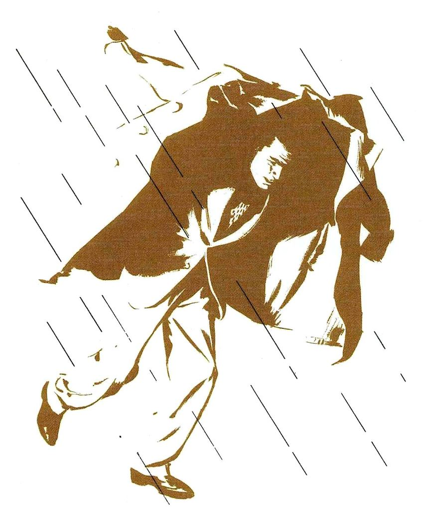 Al Parker illustration, caught in the rain