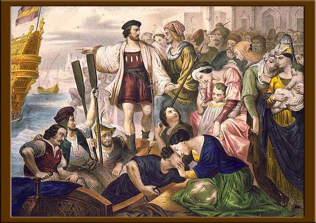 Gambar lukisan Kolumbus dan Pengikutnya