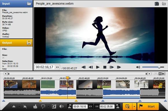 برنامج مجاني لقص وتقطيع مقاطع الفيديو على الكمبيوتر مجانا AVI TRIMMER+