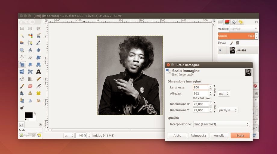 GIMP enlarge an image without losing quality - Ubuntu Maniac