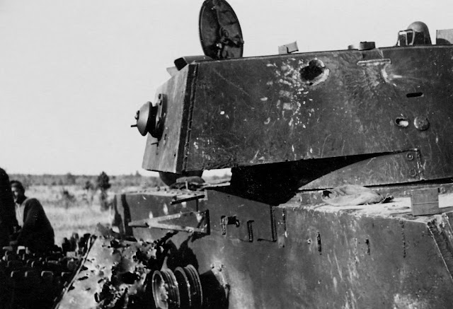 KV-1 model knocked out by 88mm shell, 21 August 1941 worldwartwo.filminspector.com
