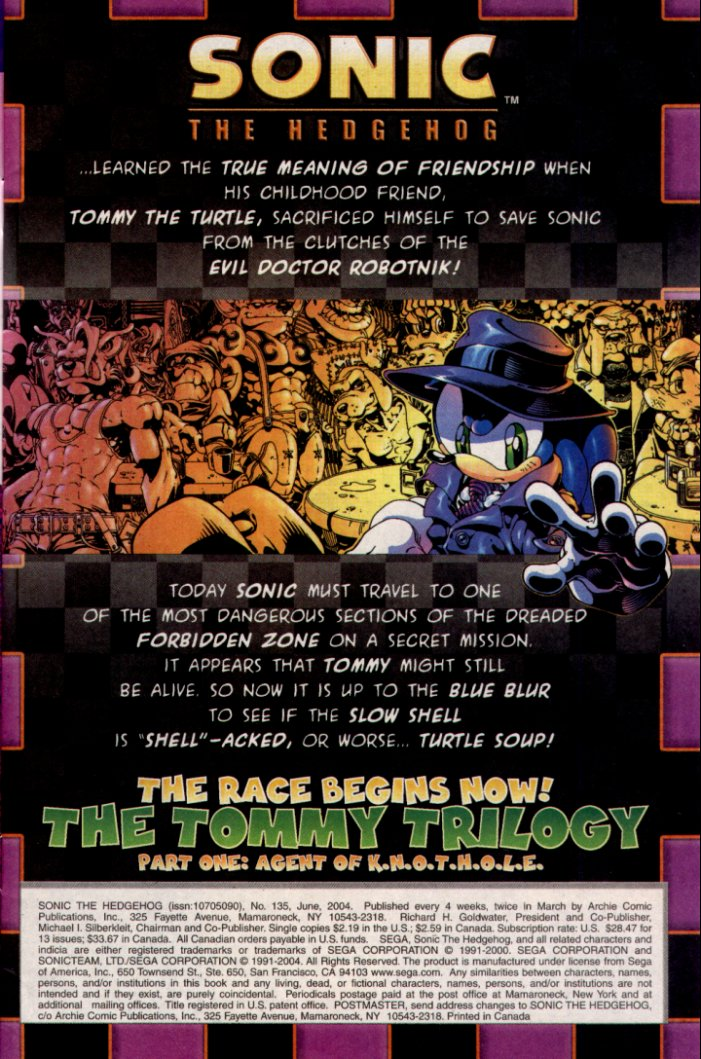 Read online Sonic The Hedgehog comic -  Issue #135 - 2