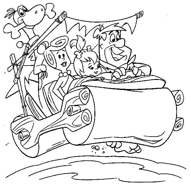 pebbles coloring pages | Flintstones Coloring Pages