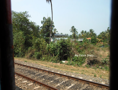 Kozhikode to Kannur Local train ride views, Kerala