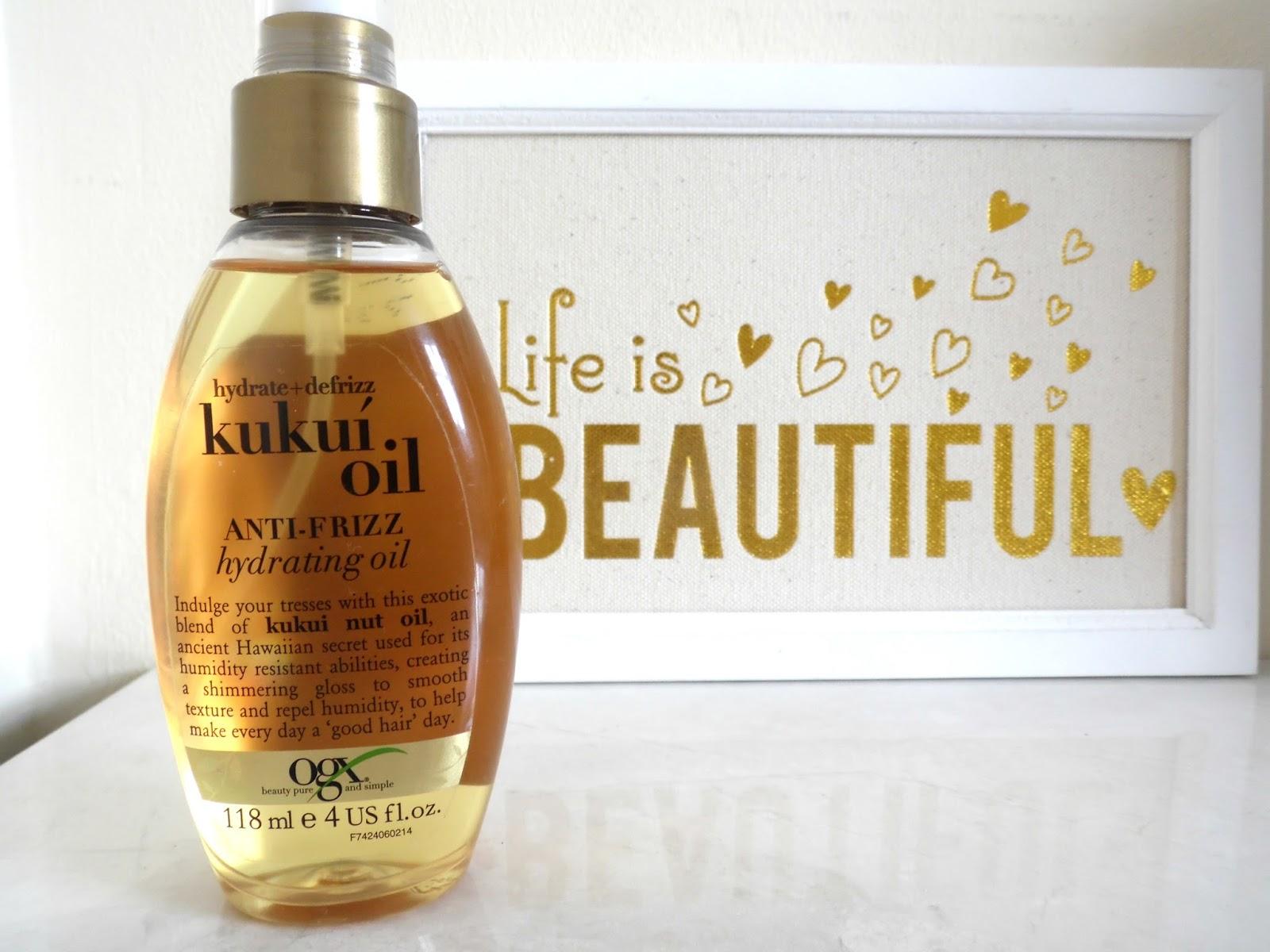 Review: OGX Kukui Oil