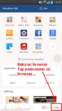 Cara Menghapus History, Cookie, dan Cache pada UC Browser