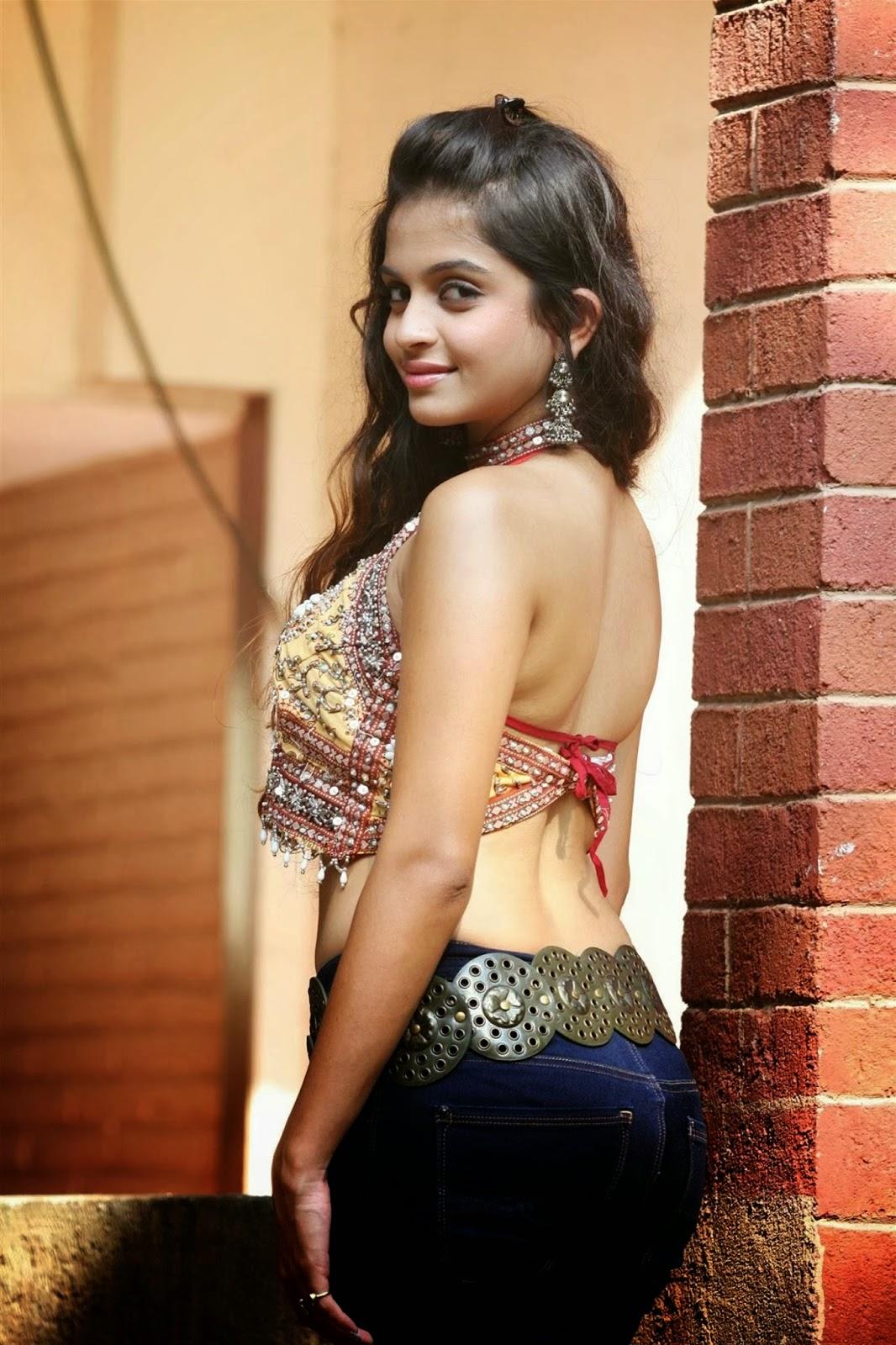Sheena Shahabadi white backless images