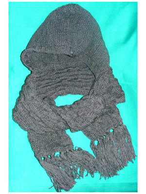 fular cu gluga tricotat handmade