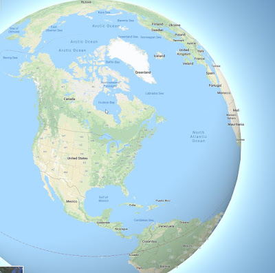 Base layer on Google Maps no longer uses the Mercator projection and is now spherical.