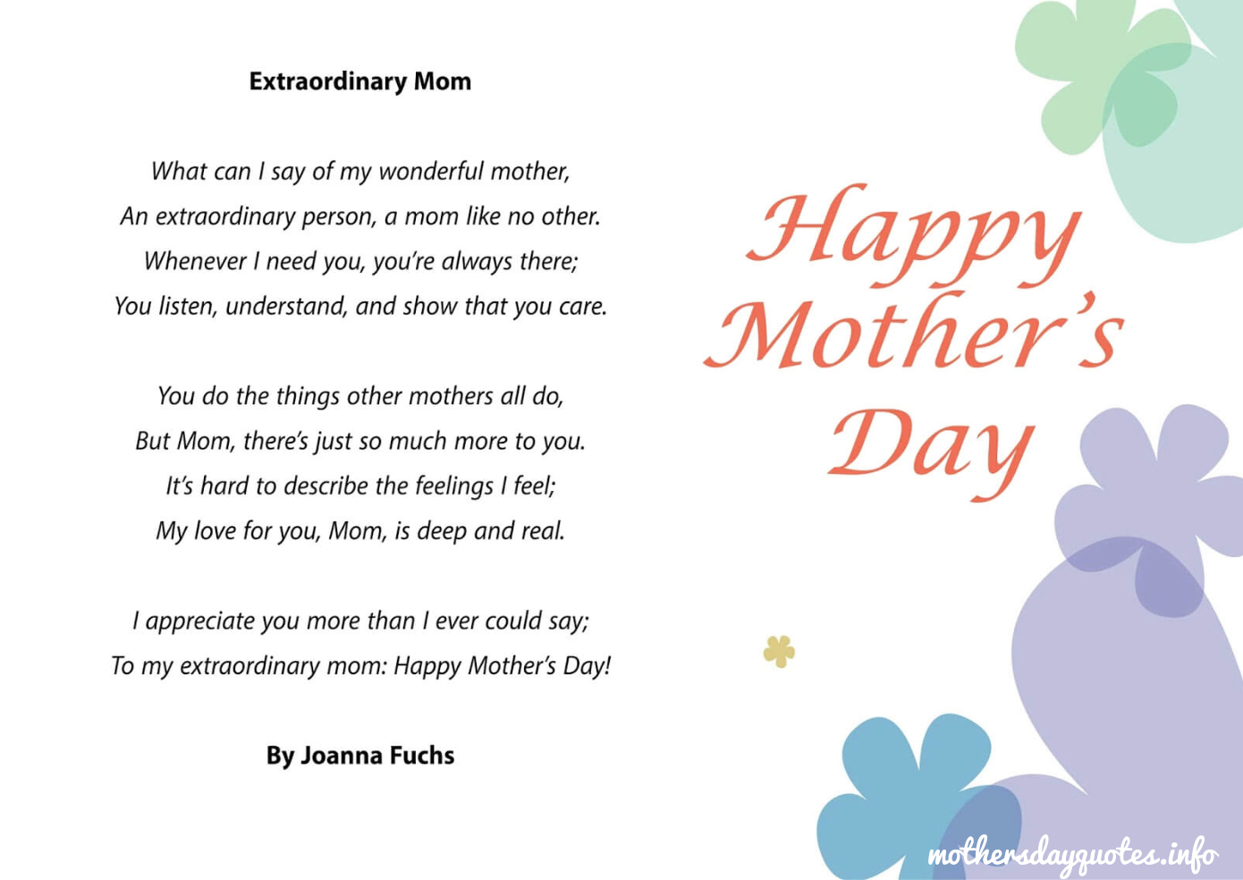Relatively s day poems mothers day poems 2017 happy mothers - poems mothers  TV41