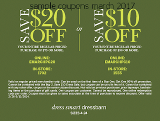 Dress Barn coupons march