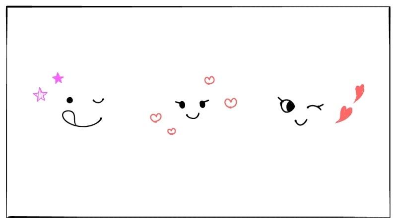 簡単な人の顔表情のイラストの描き方スラリルボールペンで簡単に
