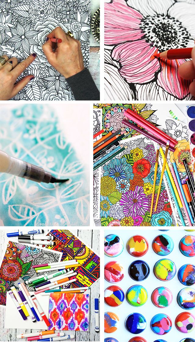 Coloring With Crayons For Adults : coloring, crayons, adults, Alisaburke:, Crayons:, Tricks