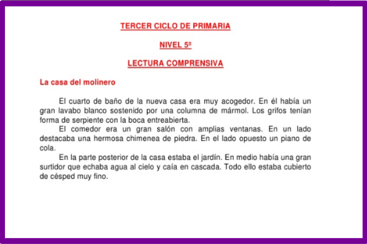 http://es.slideshare.net/nomenterodelapataca/banco-delecturastercercicloprimaria-6889448