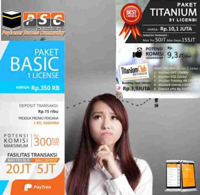 Paket basic atau Titanium Paytren