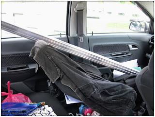 gambar rel langsir aluminium dalam kereta Proton SAGA BLM