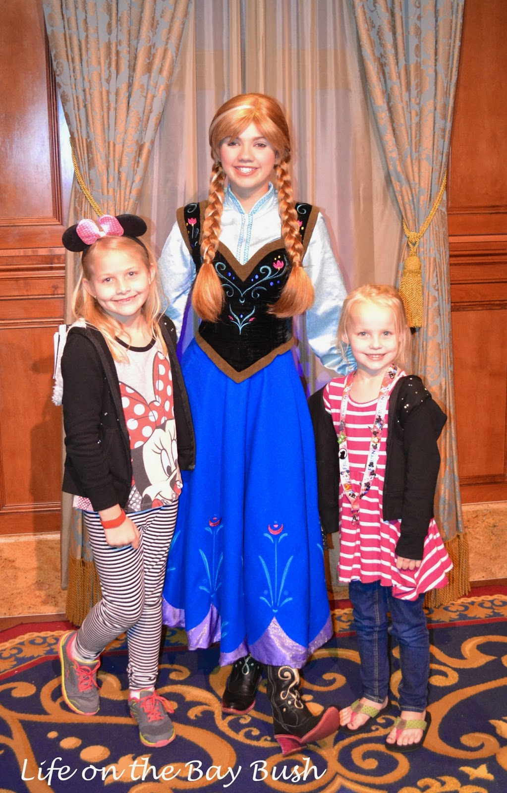 Meeting Anna at the Magic Kingdom