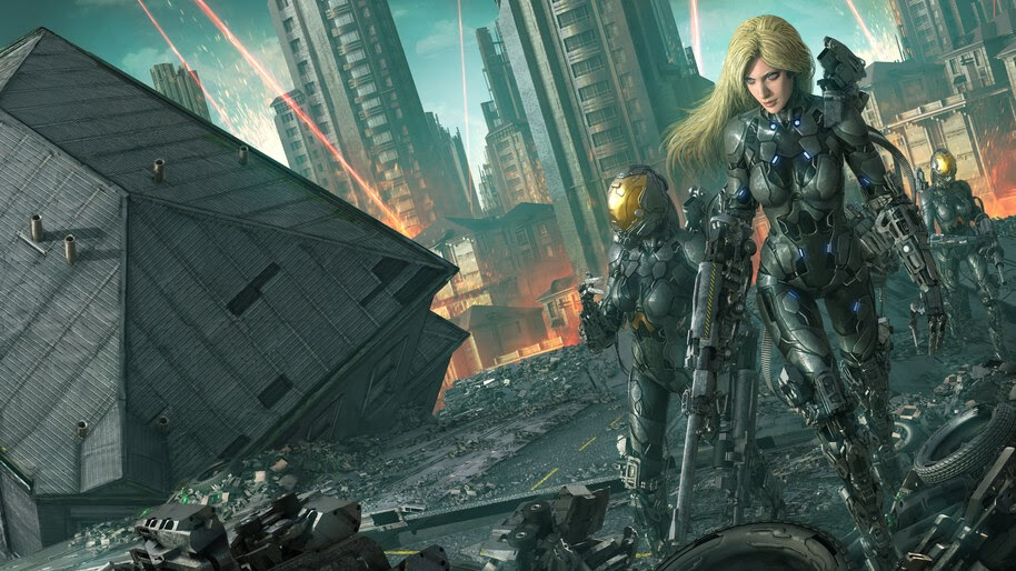 Sci-Fi, Girl, Soldiers, 8K, #4.957
