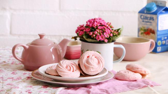 Rose Meringue Cookies
