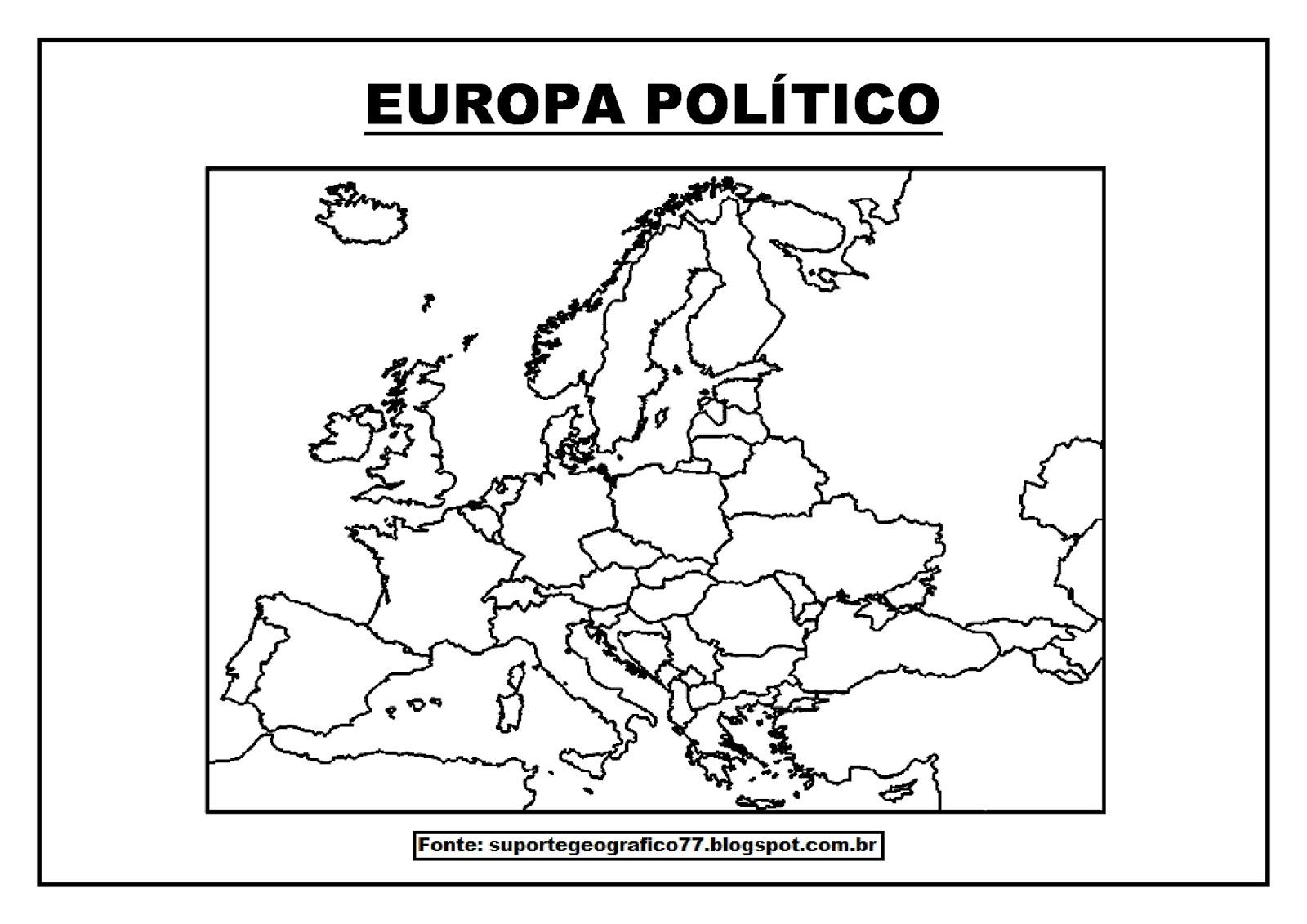 mapa da europa para pintar Suporte Geográfico: EUROPA   MAPAS PARA COLORIR mapa da europa para pintar