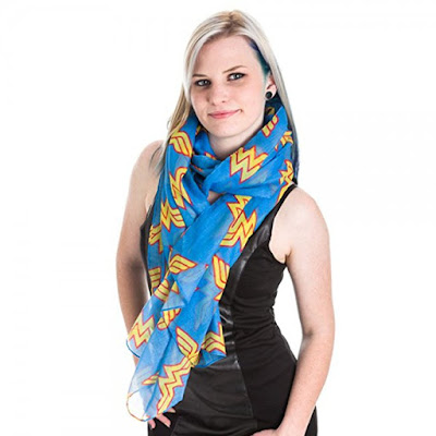 Wonder Woman Toss Print Scarf