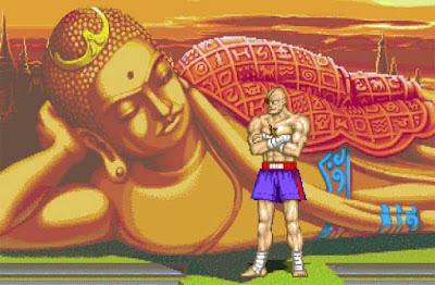 Sagat nel suo stage di ''Street Fighter II''