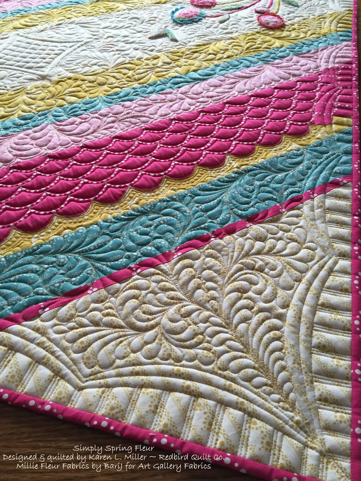 Karen S Quilts Crows And Cardinals Quilting With Rulers