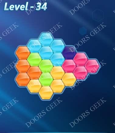 Block! Hexa Puzzle [6 Mania] Level 34 Solution, Cheats, Walkthrough for android, iphone, ipad, ipod
