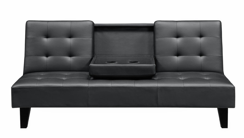 convertible sofa. dhp julia black leather convertible sofa