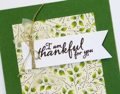 Stampin' Up! Painted Harvest Autumn Thank You Cards ~ 2017 Holiday Catalog ~ Vellum Leaves ~ www.juliedavison.com