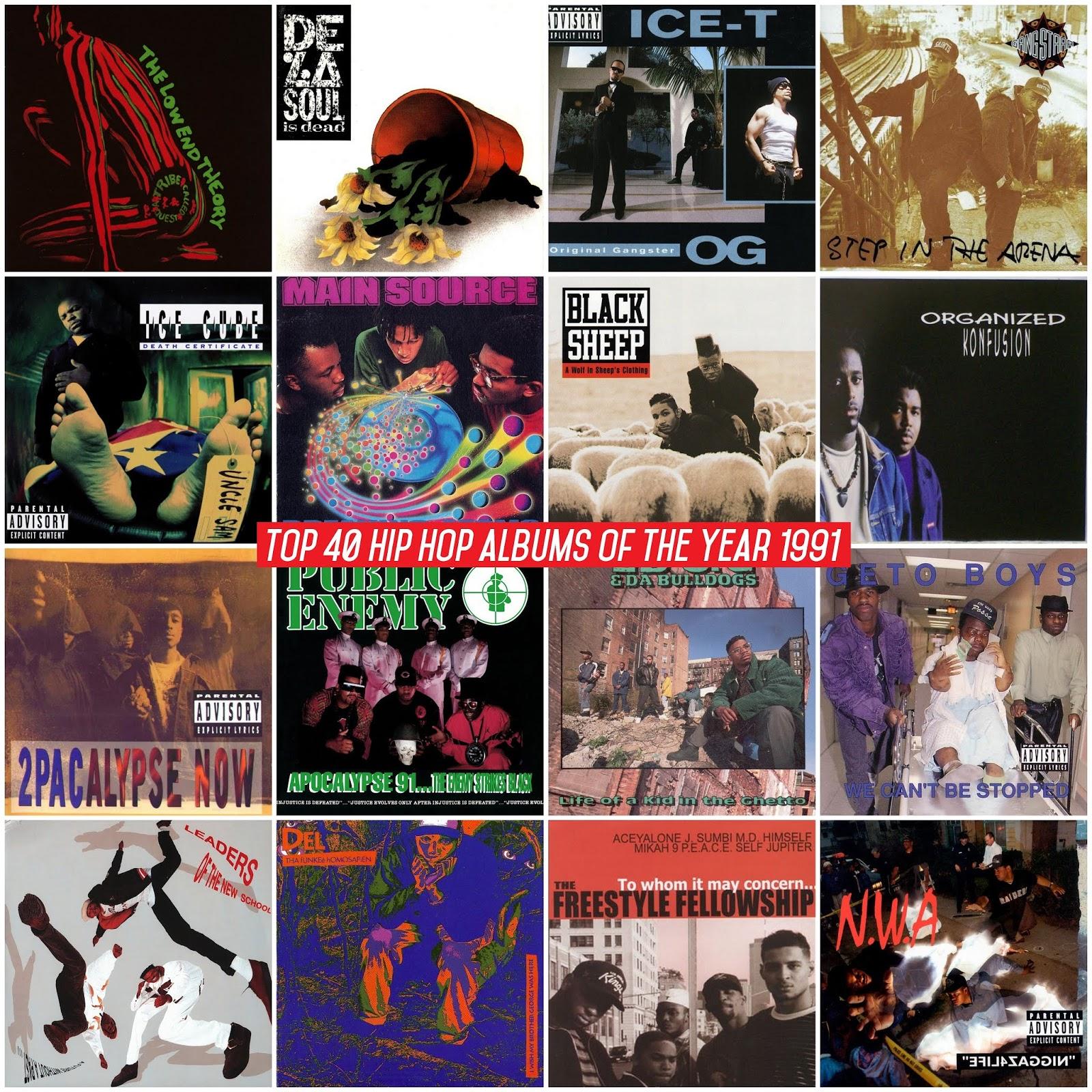 18f1eb2251d Los mejores álbumes del año 1991 según la página Hip-Hop Golden Age. Si  quieres saber las razones y las canciones favoritas de cada álbum visita el  ...