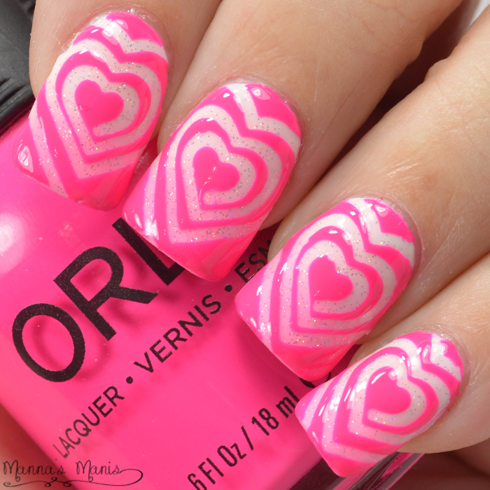 Twinkled T Cyclone Heart Vinyl Nail Art - Manna\'s Manis