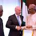 FIFA President Gianni Infantino pays a courtesy visit to Buhari