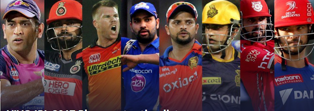 IPL 2017 schedule time table