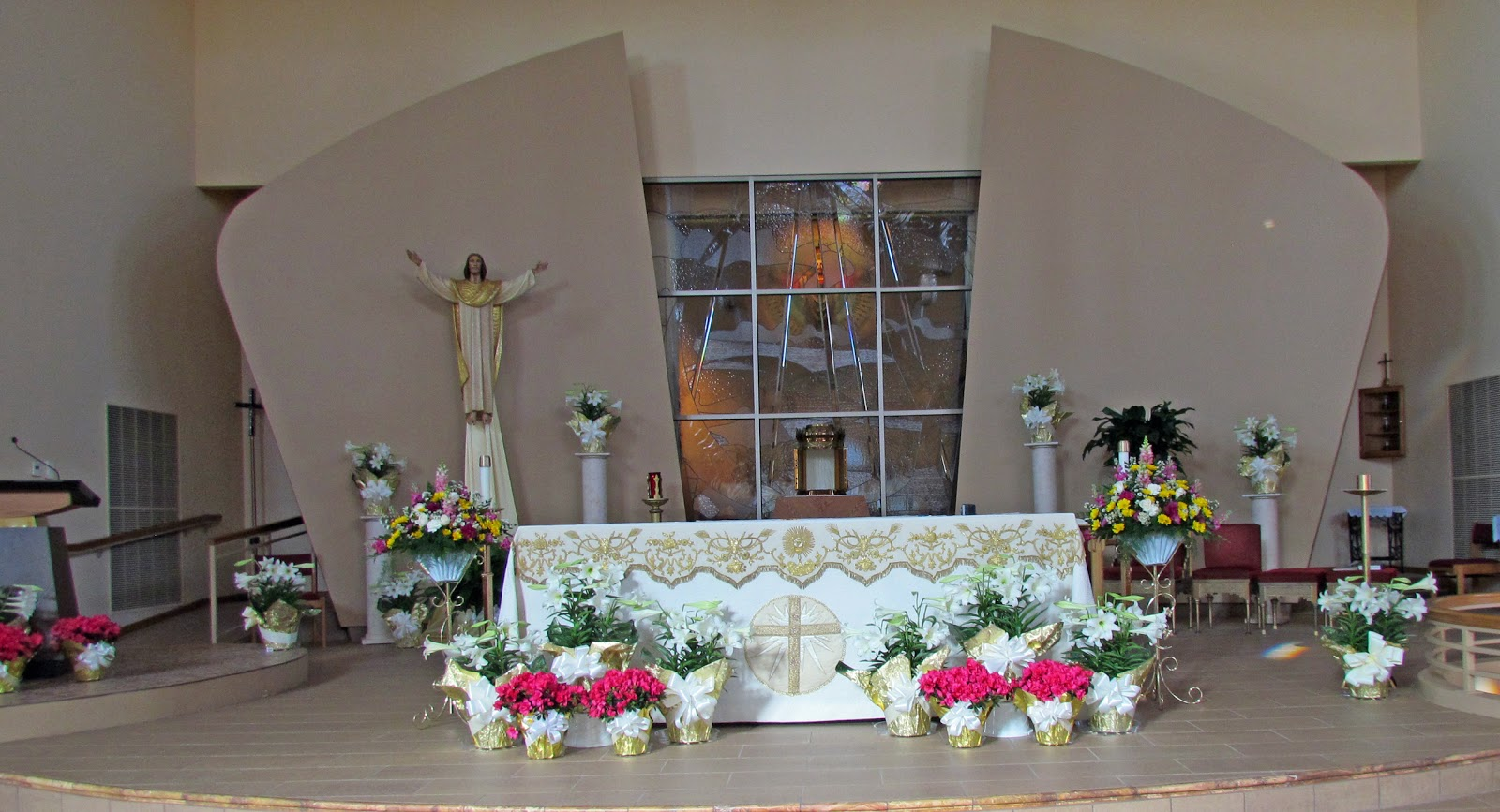 easter decorations for church sanctuary