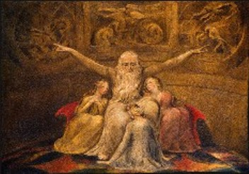 Job and His Daughters, by William Blake