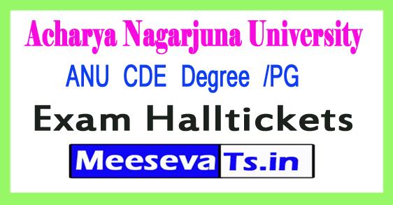 Acharya Nagarjuna University ANU CDE Degree /PG Hall Tickets 2017