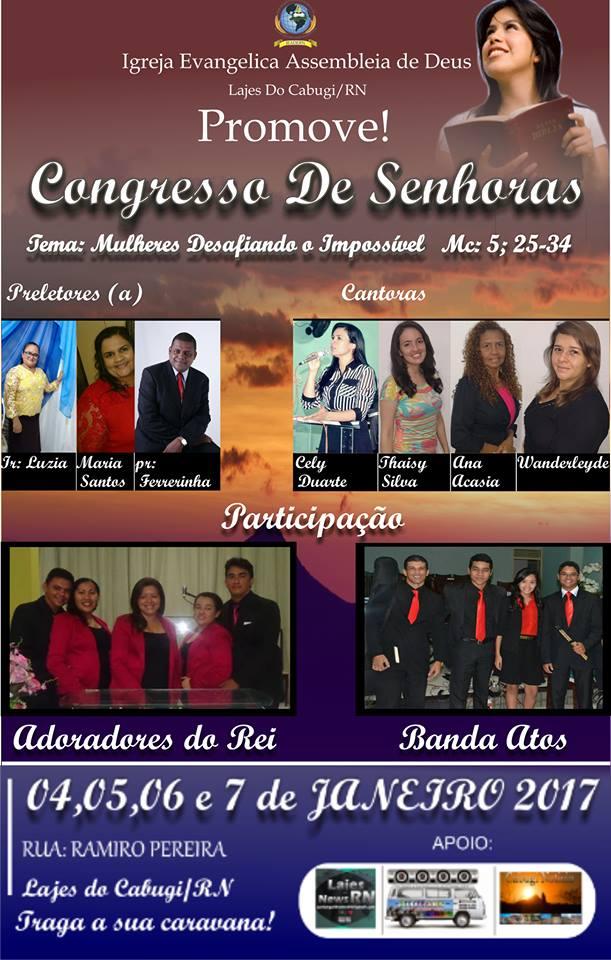 Congresso de Senhoras na AD em Lajes/RN