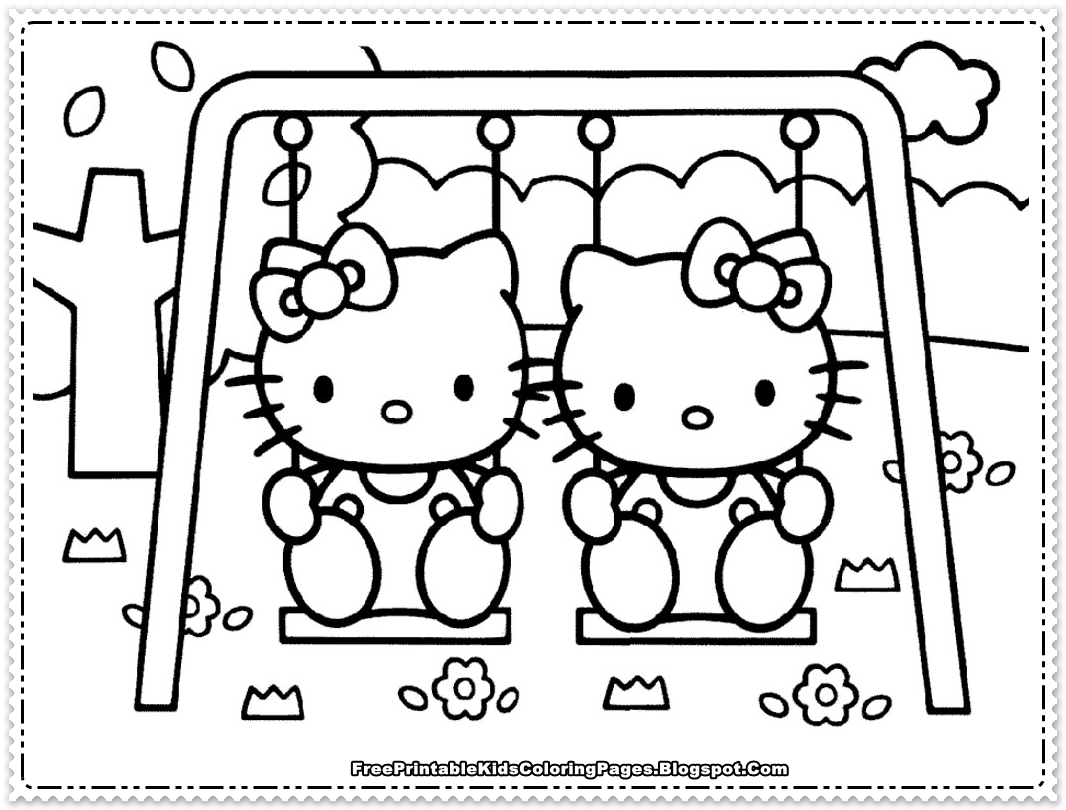 Hello kitty coloring pages for girls free printable kids for Hello kitty coloring pages print