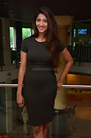 Priya Vadlamani super cute in tight brown dress at Stone Media Films production No 1 movie announcement 051.jpg